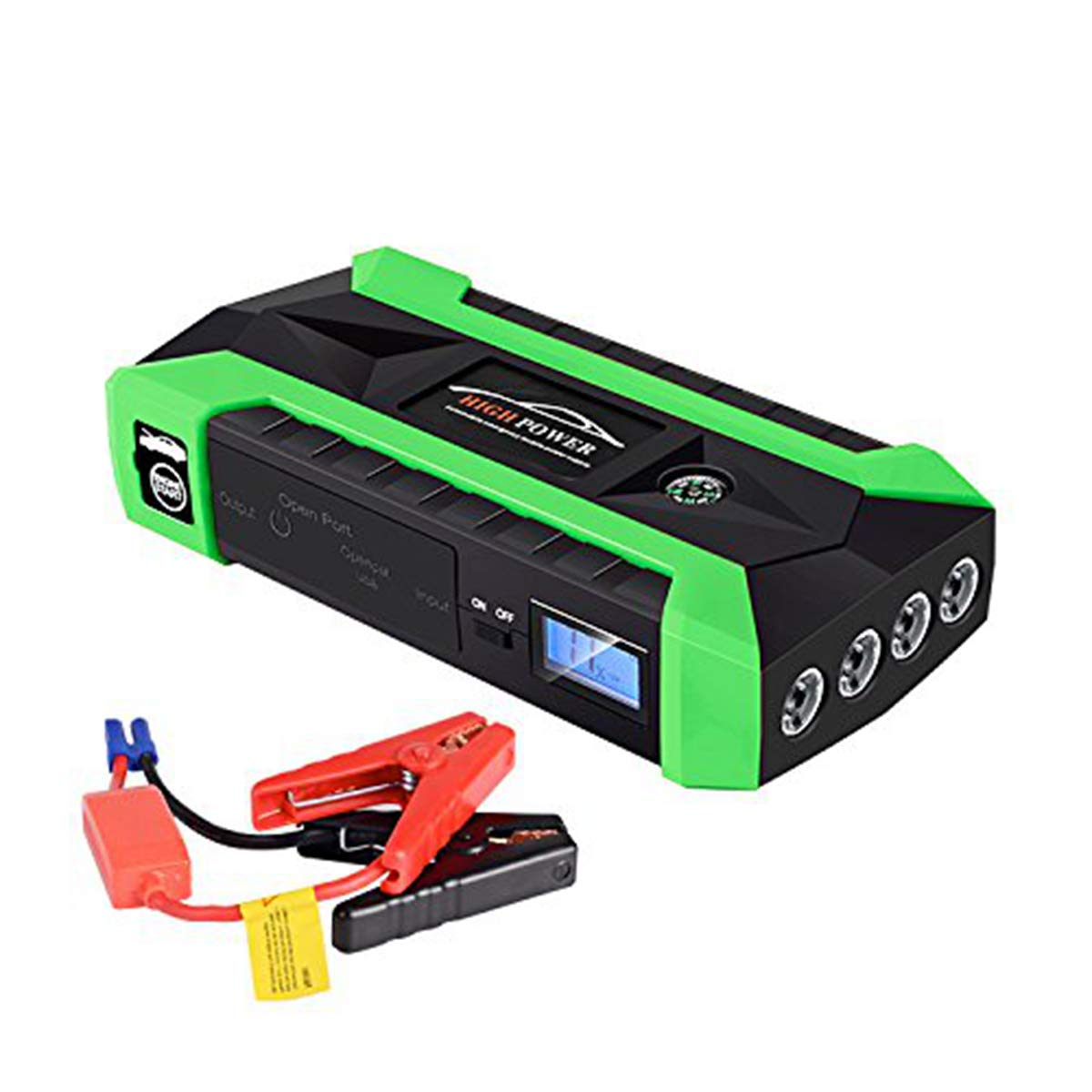 Portable Car Jump Starter 600A Peak 20000mAh/89800mAh (up to 6.0L Gas, 3.0L Diesel Engine) Auto Battery Booster and Phone Charger with Smart Jumper Cables Power Pack