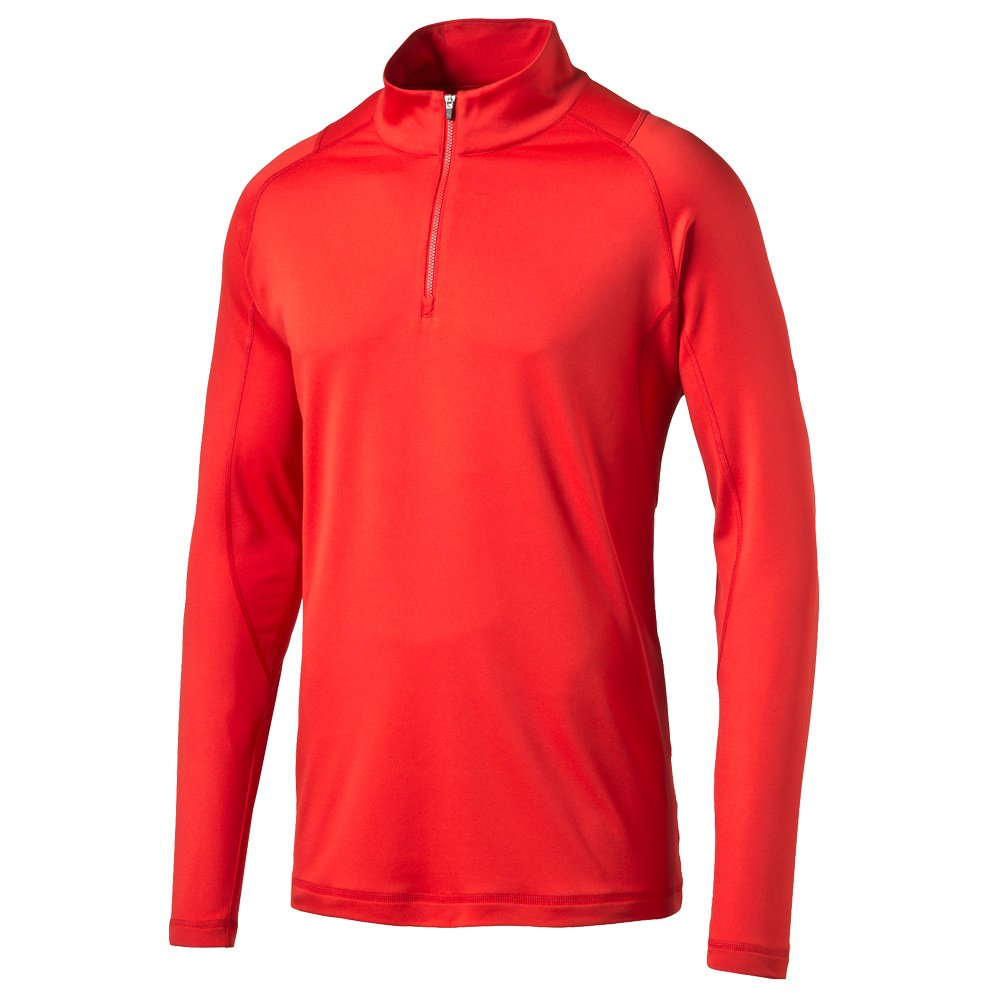 Puma Golf Men's Crest Tech 1/4 Zip Popover Jacket, High Risk Red, Medium by PUMA