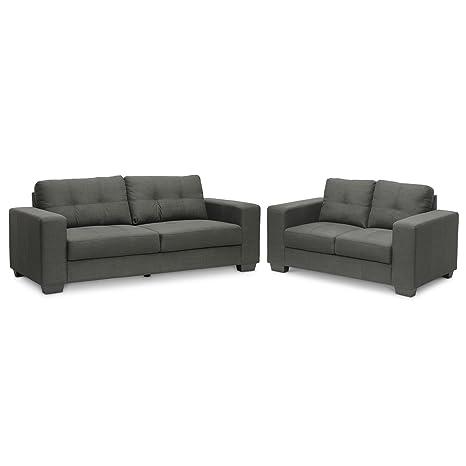 Amazon.com: Baxton Studio westerlund sofá de 2 pieza set ...