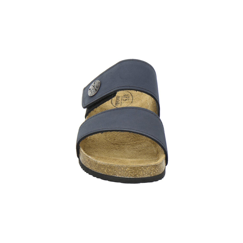 AFS-Schuhe 2745B, Made Pantolette Damen Komfort, Bequeme Hausschuhe, Hochwertiges. echtes Leder, Made 2745B, in Germany Navy fea82f