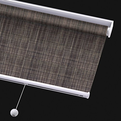 PASSENGER PIGEON Solar Window Shades, Premium Free-Stop Cordless Light Filtering UV Protection Flame Retardant Water Proof Custom Made Roller Shade, 24
