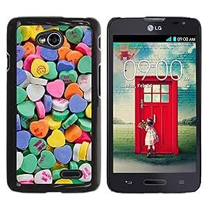 Be Good Phone Accessory // Dura Cáscara cubierta Protectora Caso Carcasa Funda de Protección para LG Optimus L70 / LS620 / D325 / MS323 // Heart Candy Valentines Sweets Love