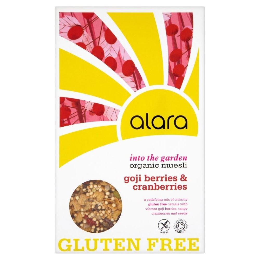 Alara Organic Gluten Free with Goji Berries & Cranberries Organic Muesli (650g) - Pack of 2 by Alara