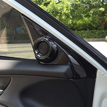 Amazon Com Kadore Interior Front Door Speaker Window A Pillar Cover Trim For Honda Civic 2016 2020 10th Gen Carbon Fiber Color 2 Pc Automotive