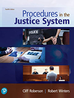 Procedures In The Justice System 11th Edition Roberson Cliff