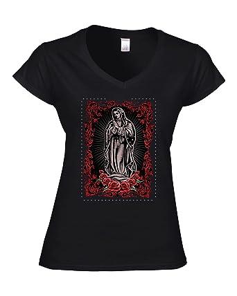 Darkart Designs Virgin Maria Spiritual T Shirt For Women