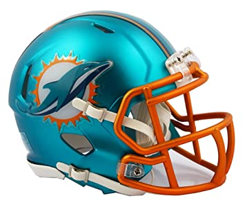 NFL Miami Dolphins Alternate Blaze Speed Mini Helmet