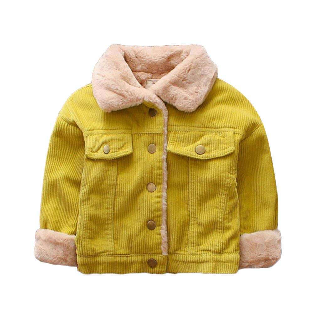 LIKESIDE Kid Baby Girls Boy Winter Solid Coat Cloak Jacket Thick Warm Outerwear