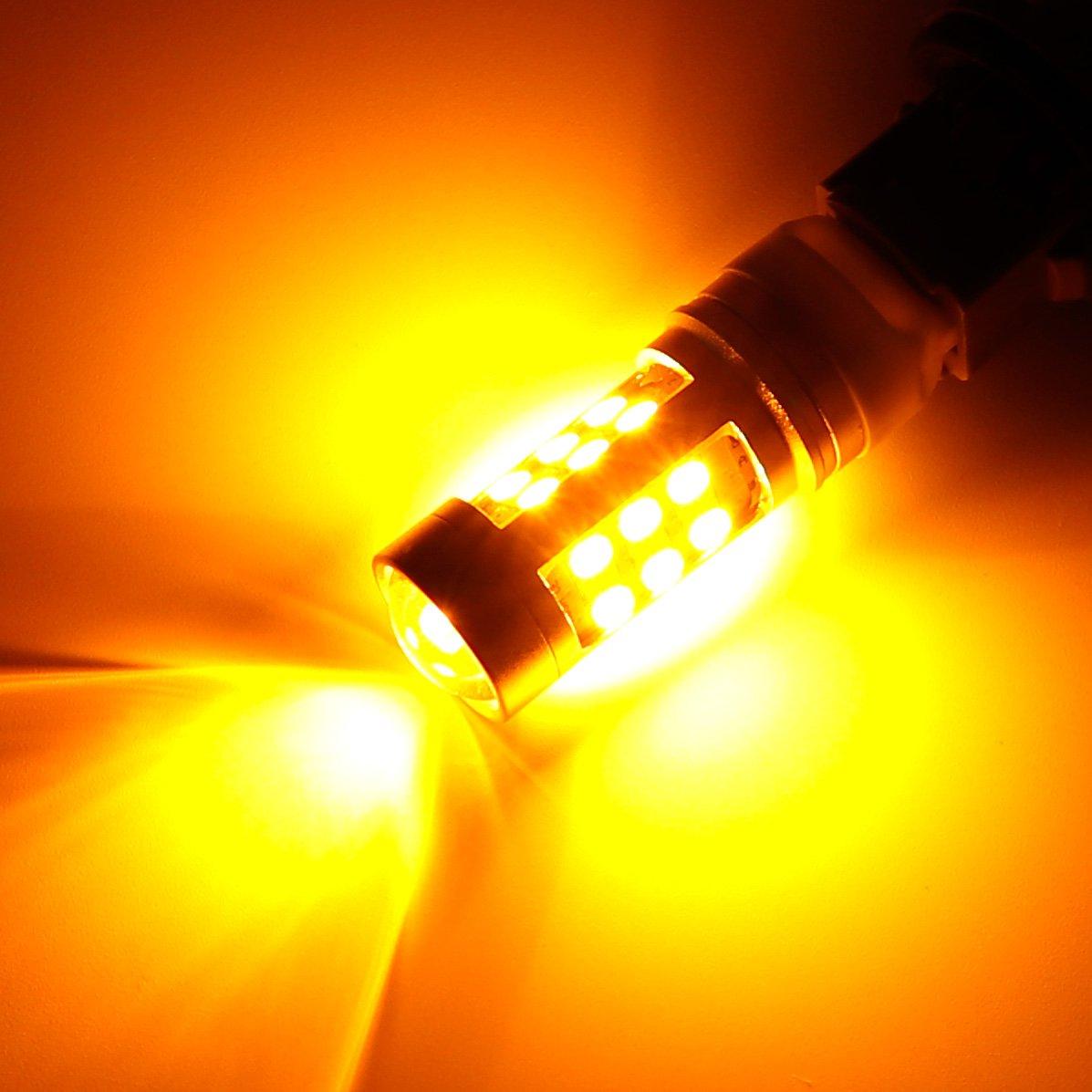 Bombillas LED de 12 V 24 V de doble color T20 7443 7444NA, cambio ...