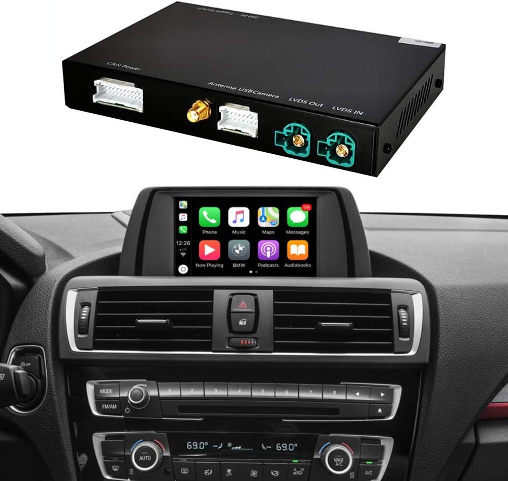 Road Top Decodificador de Kit de reequipamiento con Apple Wireless CarPlay Android Auto Mirror Link Navigation para BMW F20 F21 F22 F23 F30 F31 F32 F33 F34 F36 F80 2011-2015 Año