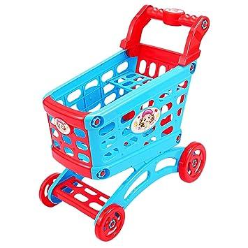 B Blesiya Carro De La Cesta De La Compra del Supermercado De Ultramarinos del Color Azul Y Rojo para Los Niños De Los Niños, Cumpleaños: Amazon.es: Juguetes ...