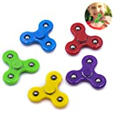 5 Pieces Mini Size Fidget Spinner Toys for Children Kids Girls Boys Hand Spinner Best Toys Fit The Small Hand Birthday Party Favor kindergarten(XS Size 2 Inch)
