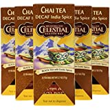 Celestial Seasonings India Spice Decaf Chai Tea, 25 Count (Pack of 6)