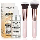 TLM Colour Changing Foundation,TLM Foundation Color Changing Foundation Brush Powder Brush Self Adjusting Warm Skin…