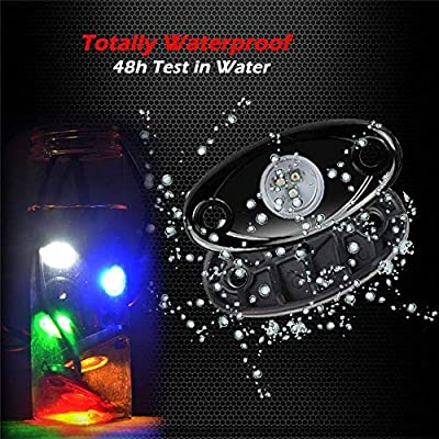LED ROCK LIGHTs -CHZ&D 8 pods Bluetooth Controll RGB Lights for for Trucks, Jeeps, SUV, ATV - Offroad, Crawling, Climbing Waterproof, SoundSync (8 pods): Automotive