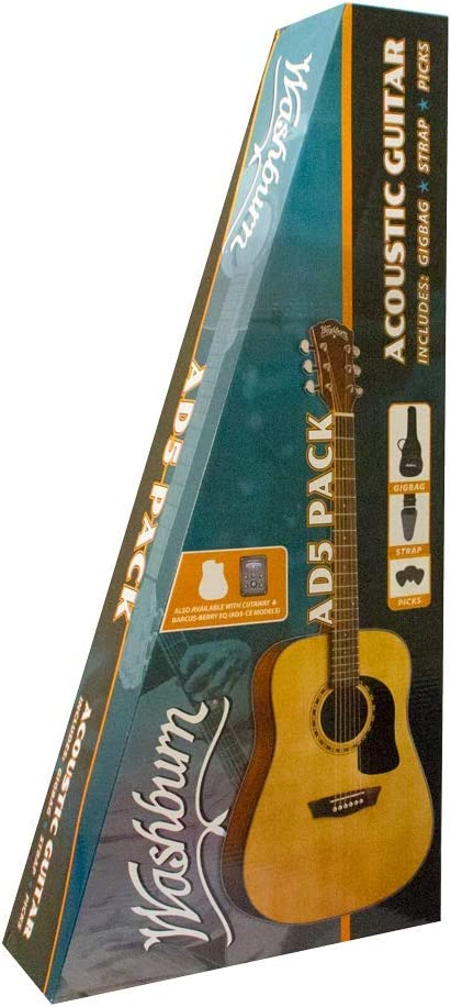Washburn AD5CEPACK Dreadnought - Guitarra eléctrica eléctrica