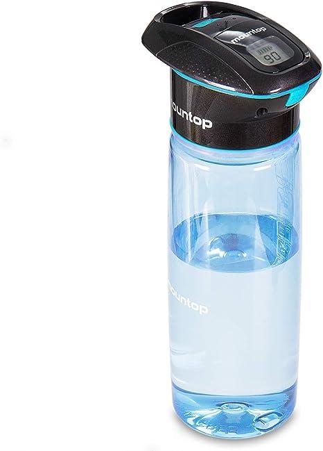 750 ml Azul mountop Botella purificadora de Agua Botella de Agua Tritan de Boca Ancha sin BPA para Viajar//al Aire Libre//Senderismo