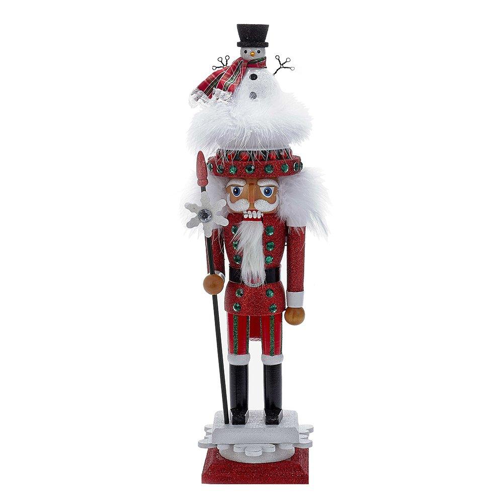 Kurt Adler 18'' Hollywood Red Nutcracker with Snowman Hat