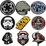 (US) Star Wars Darkside 9-set Embroidered/Iron On Patches