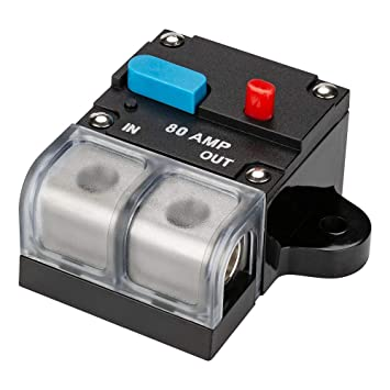 80A 300A AMP Circuit Breaker Car Marine Stereo Audio Inline Replace Fuse 12-24V