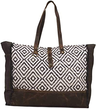 Amazon Com Myra Bags Decent Blend Weekend Bag Multi One Size Shoes A quality canvas bag with plenty of room for. amazon com
