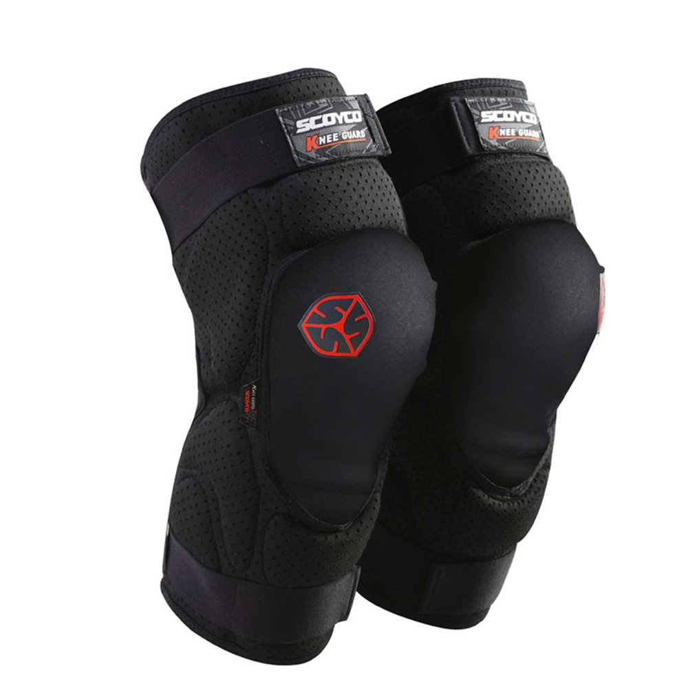 SCOYCO Knee Pads Cotton Warm Breathable Perforated Ventilate Shock-resistant Durable Sports Knee Guards SY-K16-BC-L