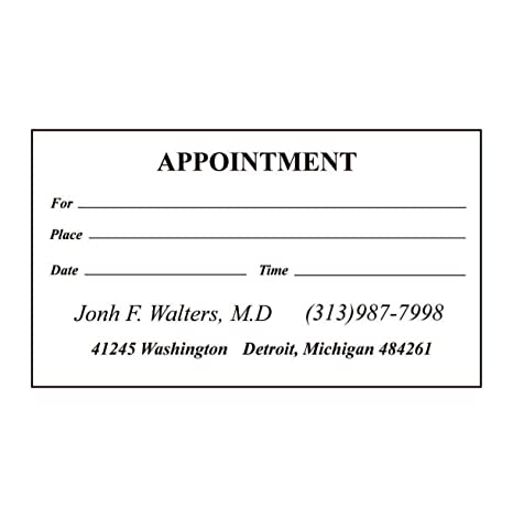 design your own 500 appointment cards - Appointment Cards