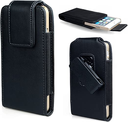 Amazon Com Iphone 8 Belt Clip Case Iphone 7 Holster Covboa Premium Leather Pouch Carrying Case With Belt Clip Case Cover For Apple Iphone 8 Iphone 7 Fits With A Thin Case