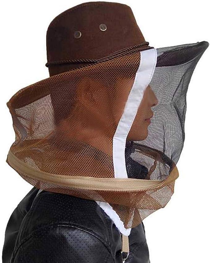 Atmungsaktiver Bienenzuchtschleier Cowboy Imkerhut Kostümschutzanzug