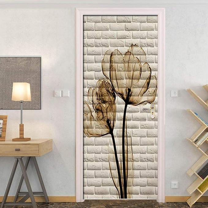 PANDADW Vinilos para Puertas Lienzo De Estilo Nórdico Moderno Impreso Lotus Poster Decoración del Hogar Pinturas Arte De La Pared Imágenes Simples para Sala De Estar Modular: Amazon.es: Hogar