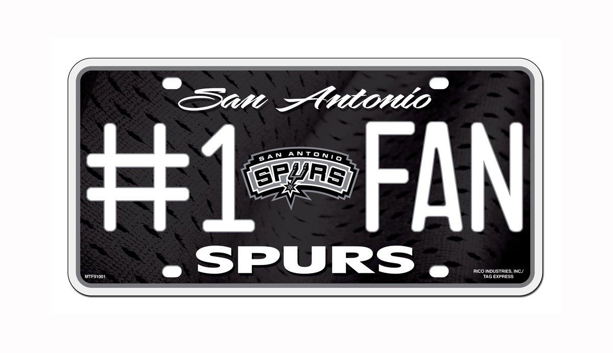 NBA #1 Fan Metal Auto Tag