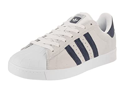d76fb21d63ef adidas Skateboarding Unisex Superstar Vulc ADV Crystal White Collegiate  Navy Footwear White 13 M
