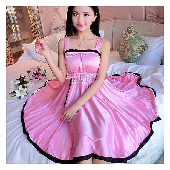 877874aa38 BEESCLOVER Ladies Sexy Silk Satin Night Dress Sleeveless Nighties V ...