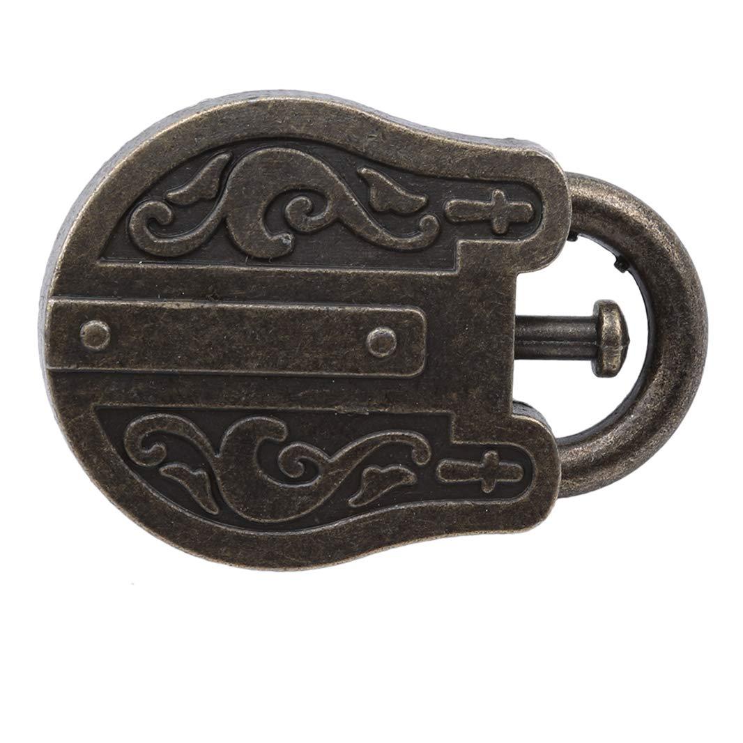 Guoshang God Lock Puzzle Metal Cast Retro Vintage Lock IQ Mind Brain Teaser Gift