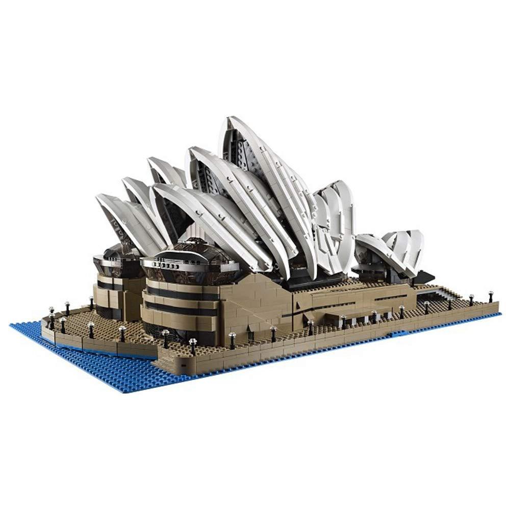 Juguetes para niños, ortografía de bloques de construcción, Sydney Opera House con el mismo modelo de bloques ensamblados rompecabezas de juguetes de educación temprana (más de 6 años)