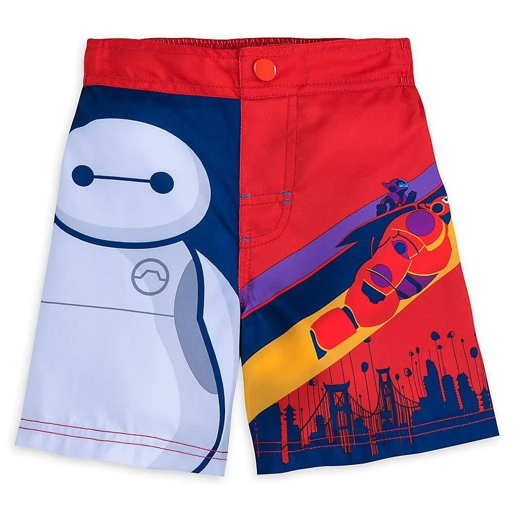 Disney Baymax Swim Trunks for Boys - Big Hero 6 Size 7/8 458066984541