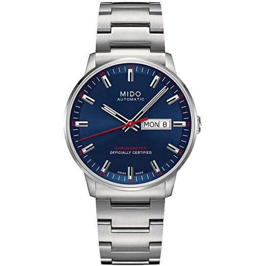 888dfe2f8dbb Mido Commander II M0214311104100 - Reloj de Pulsera analógico para Hombre