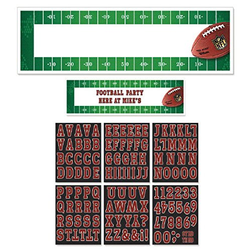 Amscan NFL Drive Birthday Giant Customizable Banner Multi Paper 65'' x 20'' Pack 7 Party Supplies (42), 726 Pieces by Amscan