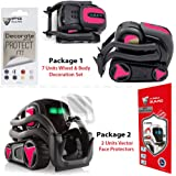 IPG for Vector Robot Face Screen Guard Decoration KIT Protector from Unexpected Attacks of Kids and Pets. Include Wheels&Body Decoration Set 7 Units Decorative Decals+2 Units Screen Protector (Pink)