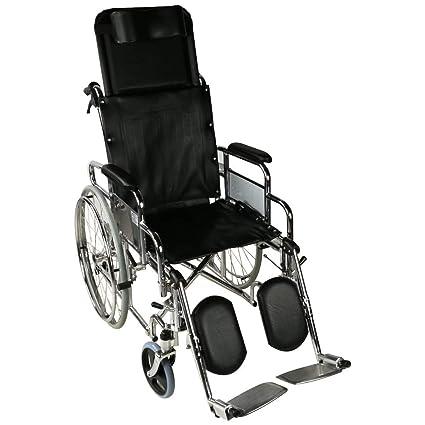 Silla de ruedas plegable | elevador de piernas y ...