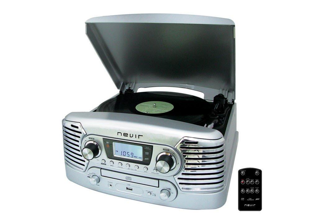 Nevir NVR-801 VMUC PL - Tocadiscos (USB, CD)