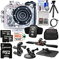 Intova HD2 Marine Grade HD Video Action Camera Camcorder with Video Light + (2x) 32GB Cards + Remote + Handlebar/ Helmet/ Suction Cup Mounts + Case + Tripod Kit