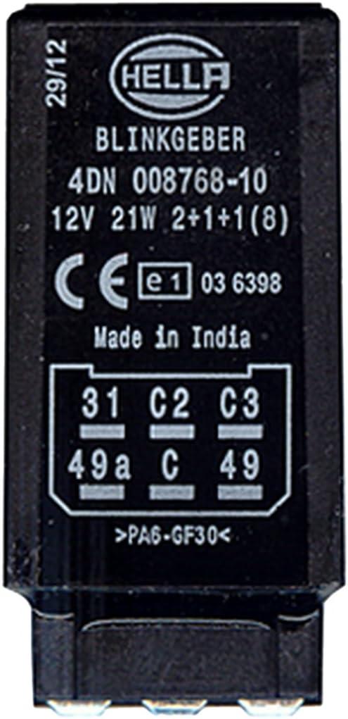 Hella 4dn 008 768 101 Blinkgeber 12v 6 Polig Gesteckt Elektronisch Ohne Halter Auto