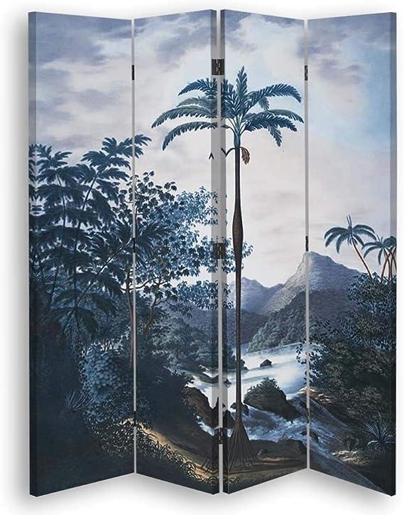 carowall CAROWALL.COM Pared divisoria árbol 4 Paneles Unilateral ...