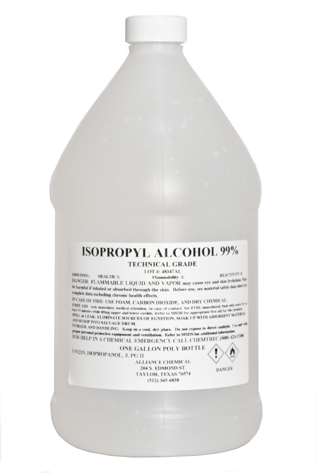 Isopropyl Alcohol 99% Technical Grade - 1 Gallon by Alliance Chemical