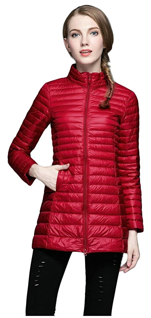 Elezay Women's Winter Light Weight Down Jacket Ultra Soft Coat YRWT6003F