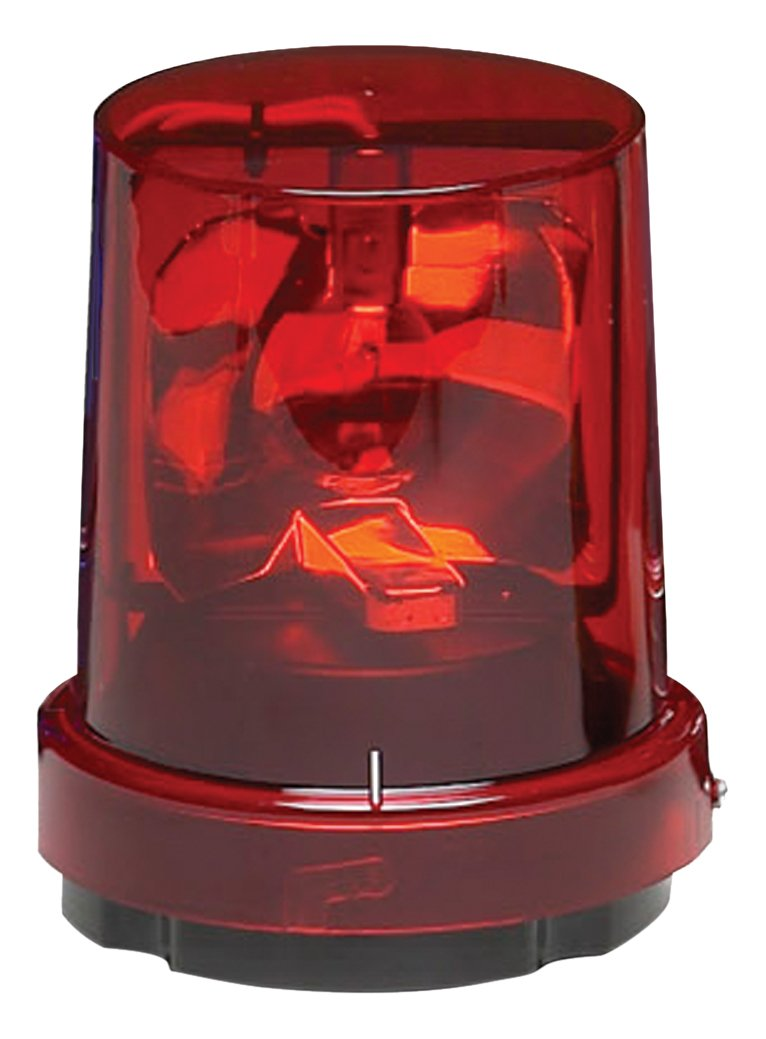 Federal Signal 121A-024R Vitalite Rotating Warning Light, Surface Mount, 1/2'' NPT, 24 VDC, Red