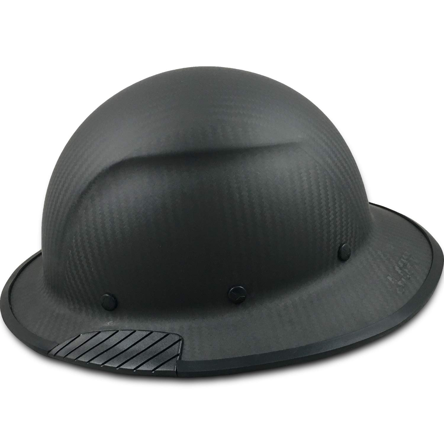 Texas America Safety Company Actual Carbon Fiber Material Hard Hat with Hard Hat Tote- Full Brim, Matte Black with Protective Edging by Texas America Safety Company (Image #2)