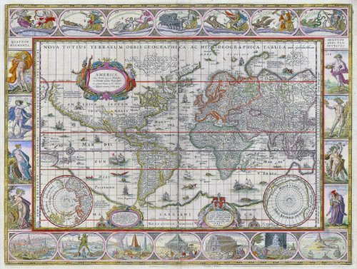 A3 Print - Antique Map of the World - Willem Blaeu - 1635 by I Love (Blaeu Antique Map)
