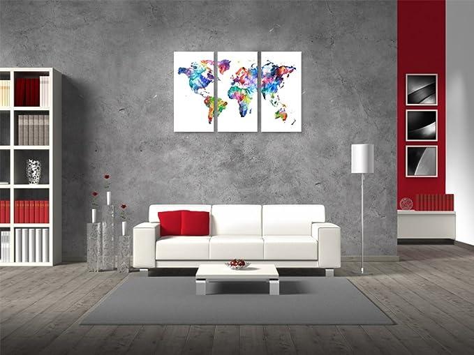 Pleasant Amazon Com World Map Canvas Art Vintage Map Poster Printed Machost Co Dining Chair Design Ideas Machostcouk